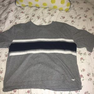 Hollister Striped Cropped Tee